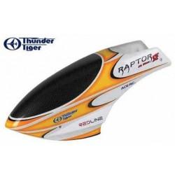 Thunder Tiger Capottina in fibra GIALLA Raptor 30 / 50 (art. PV6067Y)