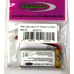 Jamara Batteria Li-Po 3,7V 700mAh 2,59Wh per Loky (art. 423010)