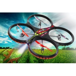 Quadricottero Flyscout AHP Bussola, Flyback, Led, Camera (art. 038540)