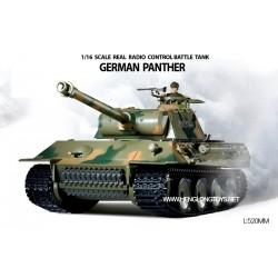 Carro armato German Panther 1/16 27mhz con fumo e suoni (3202)