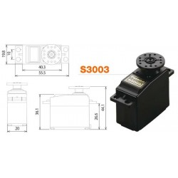 Futaba Servocomando S3003 Analogico (6V) 4,1 0,19S (art. 281)