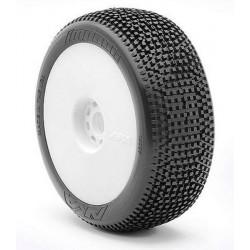 AKA Gomme 1/8 Buggy IMPACT Soft LONG WEAR su cerchio (14007XRW)