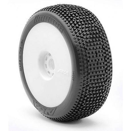 AKA Gomme 1/8 Buggy IMPACT Soft LONG WEAR su cerchio (art. 14007XRW)
