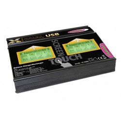 Jamara Caricabatterie X-Peak Dual 100 Touch USB 12/220V (art. 153090)