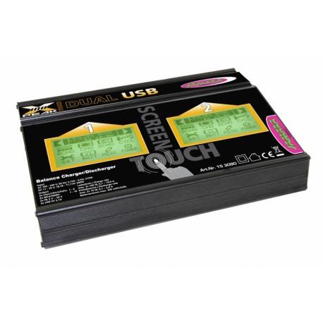 Jamara Caricabatterie X-Peak Dual 100 Touch USB 12/220V (153090)