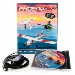Phoenix Simulatore di volo Phoenix R/C Pro V5.5 DVD (art. RTM5500)