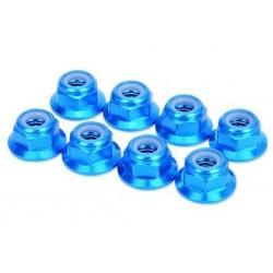 HobbyPro Dadi autobloccanti M5 Alu flangiati Blu 8 pezzi (art. HM5FBU)