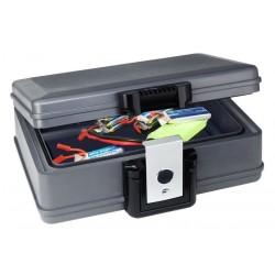Robbe Valigia di sicurezza per ricarica e trasporto delle batterie Li-Po 74x336x218mm (art. 7001)