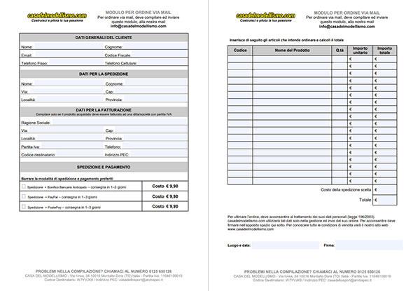 ordine via mail pdf